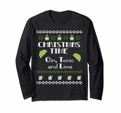 Christmas Time - Gin Tonic And Lime Long Sleeved T
