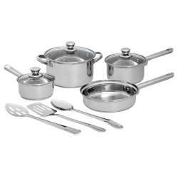 Mainstays - 10 Piece Stainless Steel Cookware Set