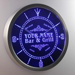 ADV PRO Ncu-tm Name Personalized Custom Family Bar & Grill Beer Home Neon Sign LED Wall Clock