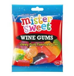 Mister Sweet Gums Wine Gums 1 X 125G