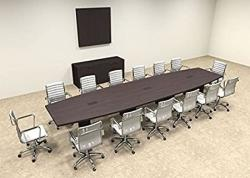 Modern Boat Shaped 16' Feet Conference Table OF-CON-C73