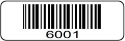 "Trek Label 1000 Label Roll 6001 Through 7000 Serial Number Barcodes 1-1 2"" X 1 2"" Sequential Bar Code Stickers - Consecutive Number Set 7"