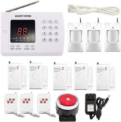 Imeshbean Wireless Pir Home Security Burglar Alarm System Auto Dialing Dialer K05 99 Zones K05 Pstn 99 Zones
