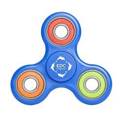 EDC Fidgeter Blue Fidget Spinner Prime Quality. Best Cool Tri Fidget Hand Spinner. Cheap Fidget Spinner Fidget Toy. Blue Figit Spinner Prime Toy.