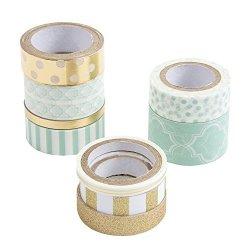 Darice Mint Washi Tape Assortments