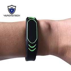 YARONG Tech New Design Mifare Classic 1K Wristband 13.56MHZ Black Silicone Pack Of 2