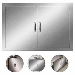 Double Wall Bbq Access Door Cutout 31 Width X 24 Height Inches Bbq Island Door Brushed Stainless Steel Perfect For Outdoor Kitchen Or Bbq