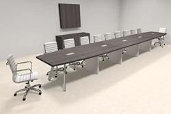 Modern Boat Shaped 22' Feet Conference Table OF-CON-CV56