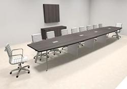 Modern Boat Shaped 20' Feet Conference Table OF-CON-CV49