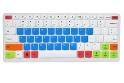 best authentic 66f82 c58e4 Leze - Ultra Thin Silicone Keyboard Cover Skin Protector For Lenovo Ideapad  110 14