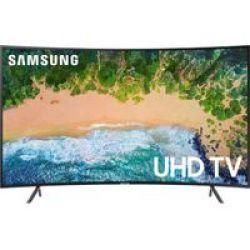 """Samsung UA65NU7300KXXA 65"""" UHD Curved Smart TV"""