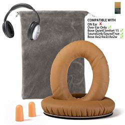 Replacement Earsun For Bose QC15 Headphone Ear Pads Cushion Muffs Compatible With Quietcomfort 15 QC2 AE2 AE2I AE2W Soundlink &