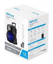 Astrum TM121 60 Watt 12 Inch Portable Trolley Loudspeaker - Black