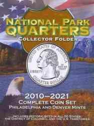 National Park Quarters Collector Folder - 2010-2021 Complete Coin Set Philadelphia And Denver Mints hardcover