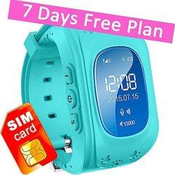 KIDS Gps Tracker Smart Watch Phone Children Wrist Bracelet With Sim Card Sos Anti-lost Finder Parent