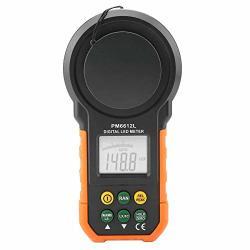 Digital Tachometer Peakmeter PM6612 PM6612L Digital Illumination Meter 200.000LUX Digital Light Meter Color LED Light Brightne