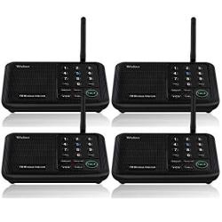 Wuloo Intercoms Wireless For Home 5280 Feet Range 10 Channel 3 Code Wireless Intercom System For Home House Business Office Room