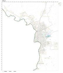 Zip Code Wall Map Of Laredo Tx Zip Code Map Not Laminated