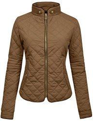 NE People Womens Lightweight Quilted Zip Jacket Small WJ22CAMEL