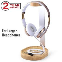 Avantree Wooden & Aluminium Headphone Stand Hanger With Cable Plate Elegant Sturdy For Sony Bose Shure Jabra Jbl Akg Gaming Head