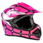 Typhoon Kids Youth Offroad Helmet Dot Motocross Atv Dirt Bike Mx Motorcycle Spiderman Pink XL