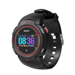 F13 1.0INCH IP68 Waterproof Smartwatch Bluetooth 4.0 Support Incoming Call Reminder Heart Rate Detection Sleep Monitoring Black Red