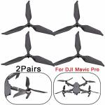 Yesyes For Dji Mavic Pro Drone Low-noise Advanced Full Carbon Fiber Propellers 3-BLADE 2 Pairs