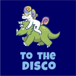 Unicorn To The Disco Women's Grey T-Shirt XS