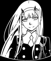 "KyokoVinyl Darling In The Franxx - 002-02 - Zero Two Anime Decal Sticker For Car truck laptop 6.5"" X 5.5"" White"