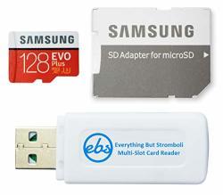 Samsung 128GB Micro Sdxc Evo+ Plus Memory Card For Samsung Phone Works With Galaxy S20 S20+ S20 Ultra 5G S10 Lite Phone MB-MC128GA Bundle