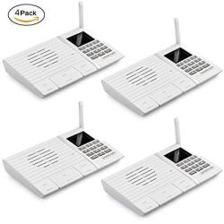 Sancon Inc Samcom 20-CHANNEL Digital Fm Wireless Intercom System For Home And Office White Pack Of 4