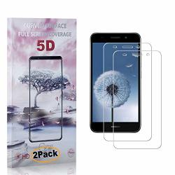 Cusking Huawei Y3 2018 Screen Protector Tempered Glass Ultra Clear Screen Protector For Huawei Y3 2018 Drop Fall Protection 9H Hardness 2 Pack