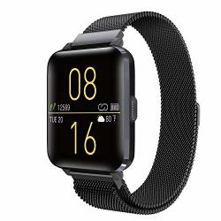 SMART WATCH Kalakate For Men Women IP68 Waterproof Smartwatch Android Ios Compatible Fitness Tracker With Calorie Distance Steps Sleep Heart Rate Monitor Stainless Steel