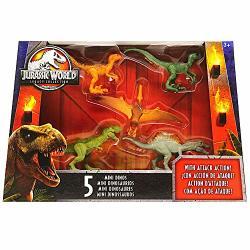 "Jurassic World Dinosaur MINI Dino 5 Pack Dinosaurs 2.5"" Jurassic World Legacy Collection With Spinosaurus"