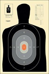 Action Target - B-27E Pros Paper Target - 100 Pack - Paper Targets Shooting Targets