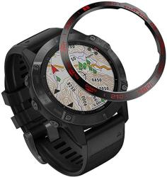 WATCH Abanen Bezel For Fenix 6 Pro sapphire Stainless Steel Adhesive Cover Anti Scratch Collision Protector Stickers Ring For Garmin Fenix 6 Pro fenix 6 Sapphire Not