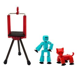 Zing Global Limited Toy Shed Stikbot Studio Series 2 1 Stikbot + 1 Animal + 1 Tripod Multicolor