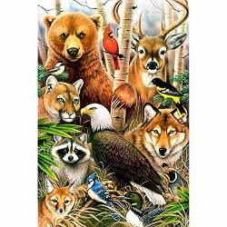 Dskin Diy 5D Diamond Painting Full Drill Kit Animal Society Diamond Rhinestone By Number Embroidery Pictures Arts Craft Gift Home Wall Decor Cross Stitch