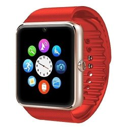 Padgene Fashion Nfc Bluetooth GSM Smart Watch With Camera For Samsung S5 Note 2 3 4 Nexus 6 Htc Sony And Other Android Smartphones Red 2