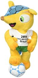 Kayford Holdings Ltd. Fuleco Plush 17 Cm Standing On Ball - The Official Mascot Of The 2014 Fifa World Cup Brazil