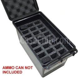 Case Club 24 Magazine Holder Mtm 50 Cal Ammo Can Foam Pre-cut Closed Cell Military Grade Foam
