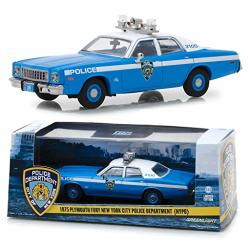 PLYMOUTH 1975 Fury New York City Police Department Nypd Blue With White Top 1 43 Diecast Model Car By Greenlight 86535