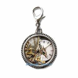 Steampunk Clock Zipper Pull Dinosaur Zipper Pull Perfect For Necklaces Bracelets Keychain And Earrings Charm Planner Charm Handmade JEWELRY-NU275