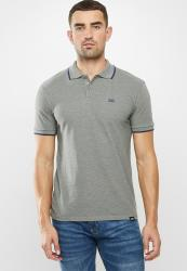Lee Icon Melange Polo-dusty Grey