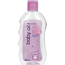 Clicks Baby Oil Lavender And Chamomile 200ml