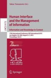 Human Interface And The Management Of Information. Information And Knowledge In Context - 17TH International Conference Hci Inte