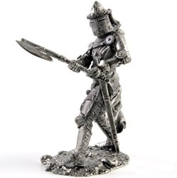 Germany. Knight. 14TH Century. Metal Sculpture. Collection 54MM Scale 1 32 Miniature Figurine. Tin Toy Soldiers