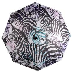CARAMIA Zebcrossing Safari Auto Umbrella Black white