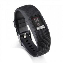 Tuff-Luv Silicone Gel Watch Strap For Garmin Vivofit 4 Strap - Black