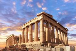 Aofoto 12X8FT Acropolis Of Athens Backdrop Parthenon Temple Photography Background Ancient Column Stone Pillar Greek Trip Photo Studio Props Artistic